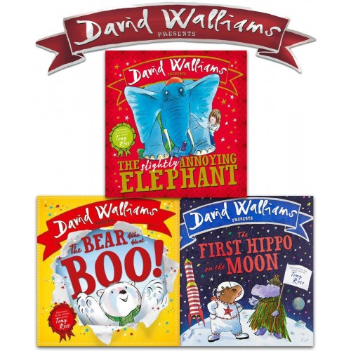 David Walliams Children Board Book Collection 3 Book Set (UK sales Only)
