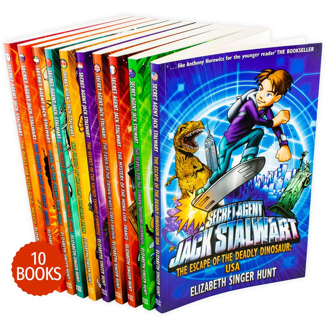 Secret Agent Jack Stalwart 10 Books Collection