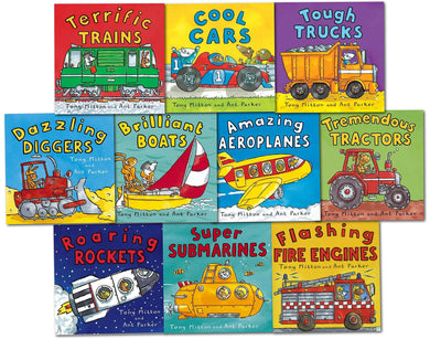 Amazing Machines Childrens 10 Books With CD Collection Set - Ages 5-7 - Paperback - Tony Mitton