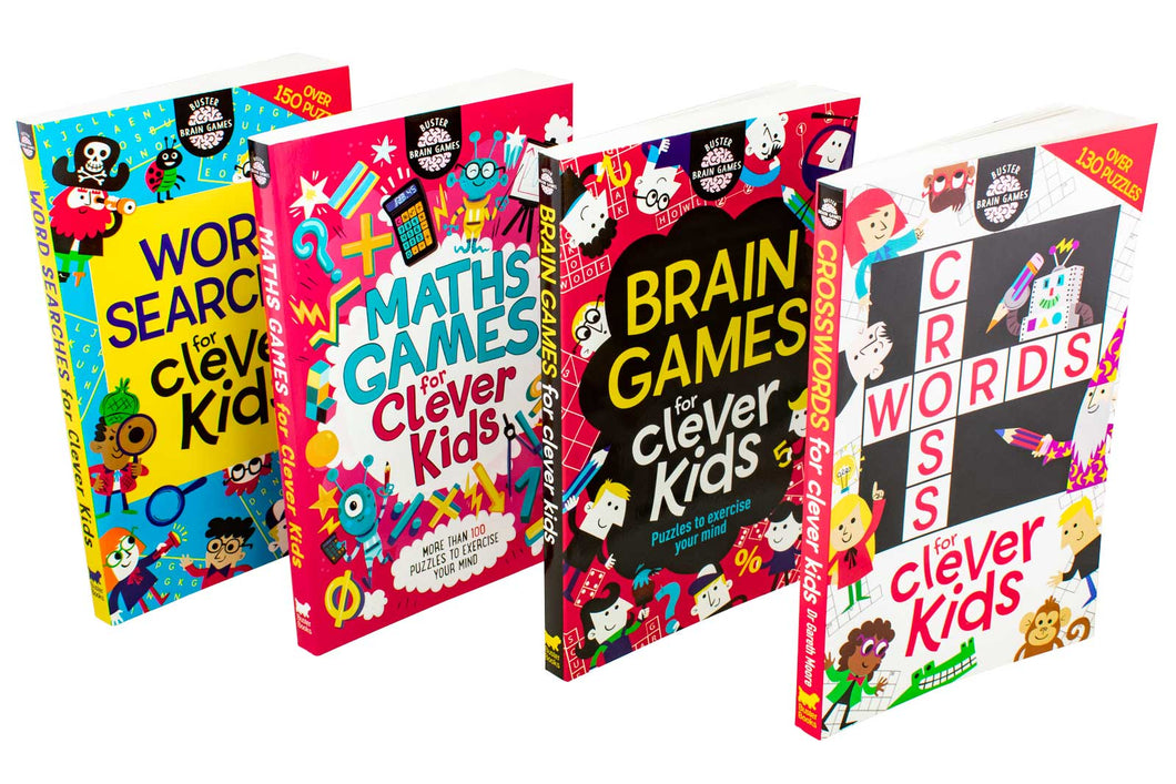 Buster Brain Games for Clever Kids 4 Book Collection - Bangzo Books Wholesale