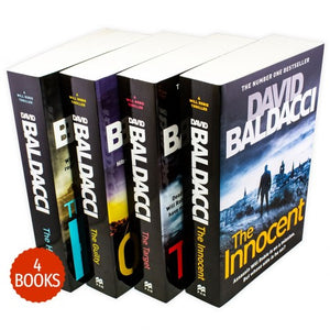 David Baldacci Will Robie Series 4 Book Collection