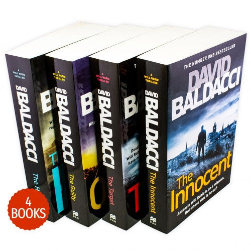 David Baldacci Will Robie Series 4 Books Collection