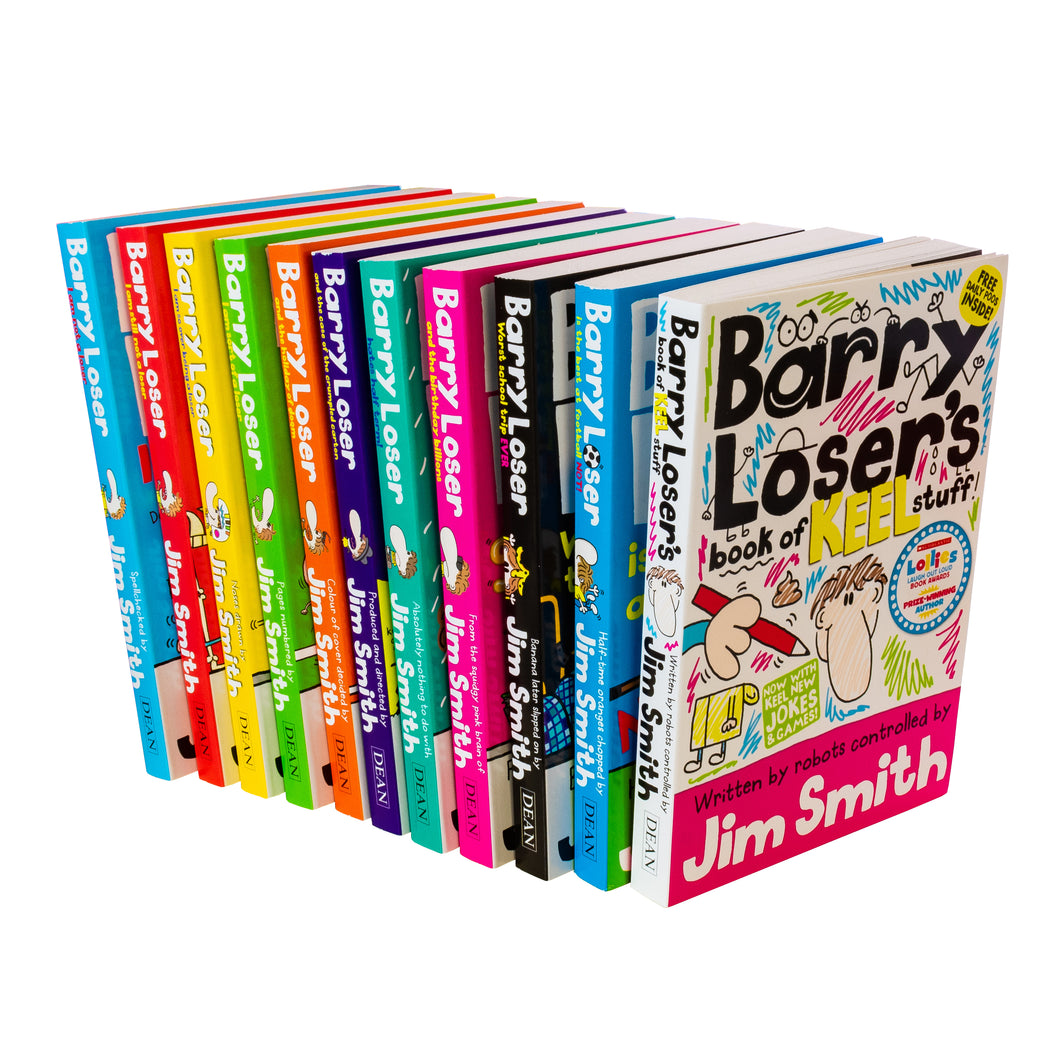 Barry Loser 11 Books Children Collection Paperback Set By Jim Smith