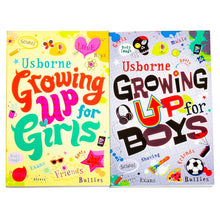 Load image into Gallery viewer, Usborne Growing Up for Girls & Boys Whats Happening to Me? 4 Books