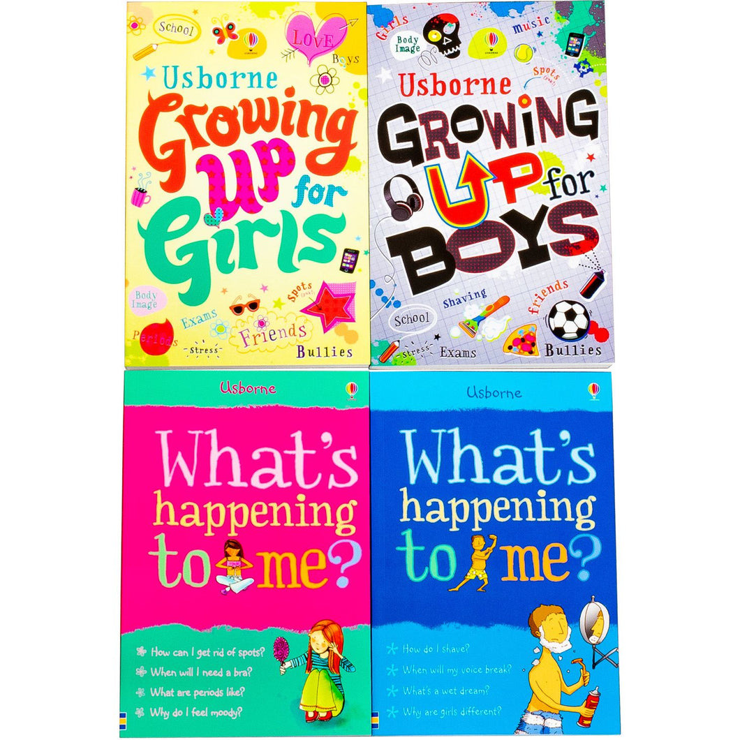 Usborne Growing Up for Girls & Boys Whats Happening to Me? 4 Books