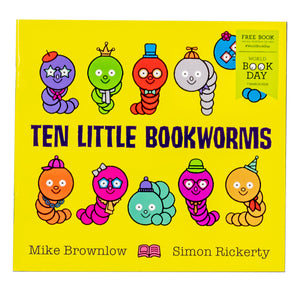Ten Little Bookworms World Book Day 2019 Paperback By Mike Brownlow
