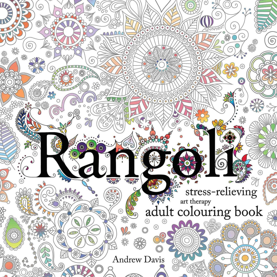 Rangoli: Stress-Relieving Art Therapy Adult Colouring Book - Bangzo Books Wholesale