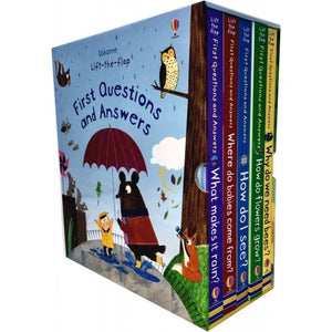Usborne Lift-the Flap Questions and Answers 5 Books Collection Box Set Series 2