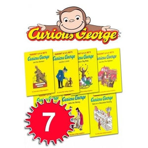 Curious George The Monkey Collection by Margret Rey 7 Book Set