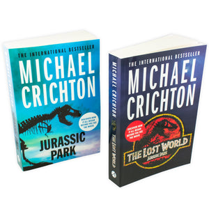 Michael Crichton Jurassic Park 2 Books Collection