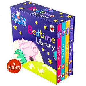 Peppa Pig Bedtime Library 4 Board Books Collection