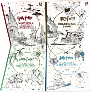 Harry Potter 4 Colouring Books Collection Set - Bangzo Books Wholesale