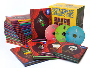 Shakespeare Childrens Stories 20 Hardback Books with Audio CD Gift Set