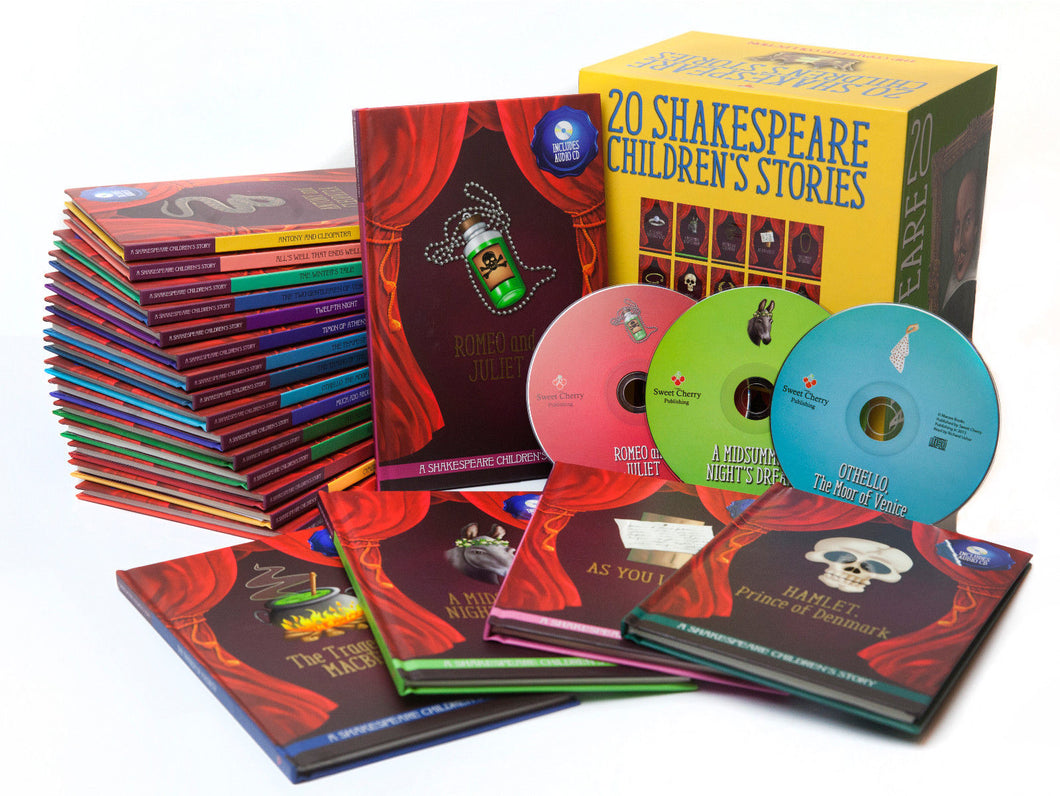 Shakespeare Childrens Stories 20 Hardback Books with Audio CD Gift Set - Bangzo Books Wholesale