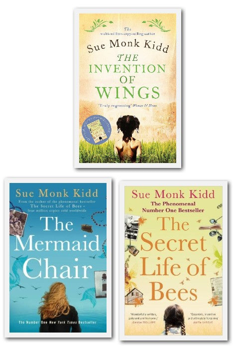 Sue Monk Kidd Collection 3 Books Set (The Invention of Wings, The Secret Life of Bees, The Mermaid Chair) - Adult - Paperback - Sue Monk