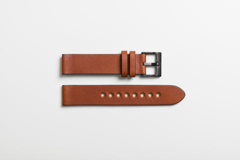 tan leather watch strap