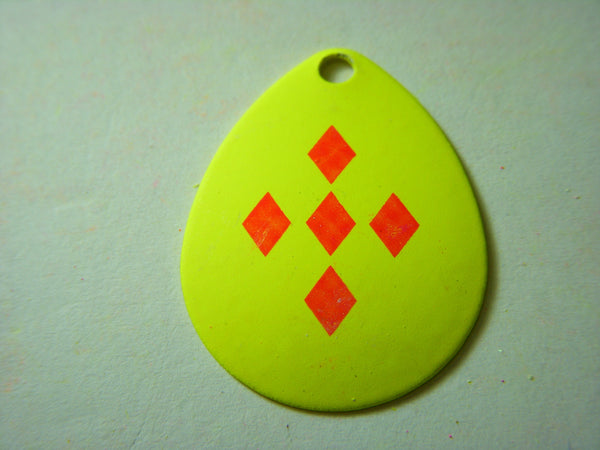 Colorado Yellow with 5 Red Diamonds Spinner Blade Size 4 Singles