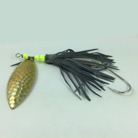 Fishing Lure Black Skirt Willowleaf Spinner