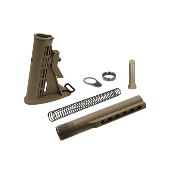 Leapers UTG PRO 6-Position Mil-spec Stock Assembly-FDE