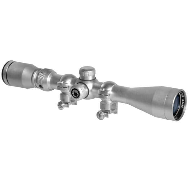 Barska 3-9x40 Huntmaster Scope-Silver