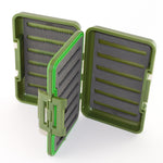 Medium Fishing Fly Box Green Lids