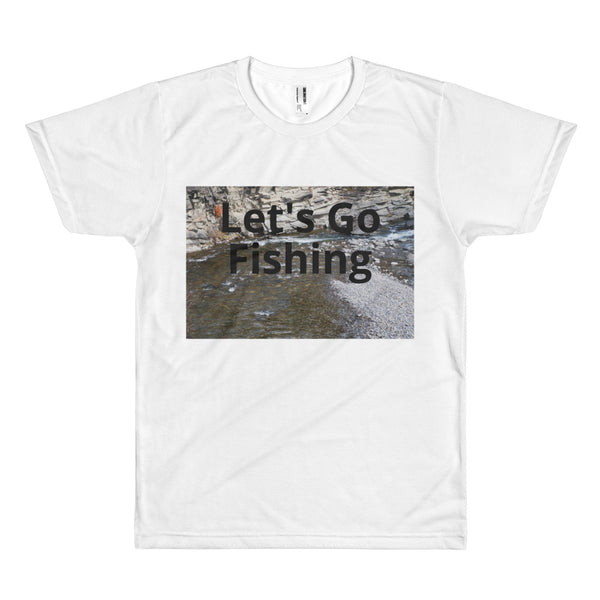 Short sleeve men's t-shirt Lets Go Fishing Image 8