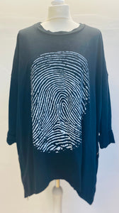 Thumbprint Top With Side Zip