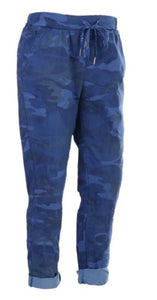 Plus Size Camouflage Magic Stretch Trousers