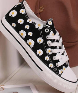 Daisy Canvas Style Trainers