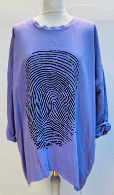 Thumbprint Top With Zip Side