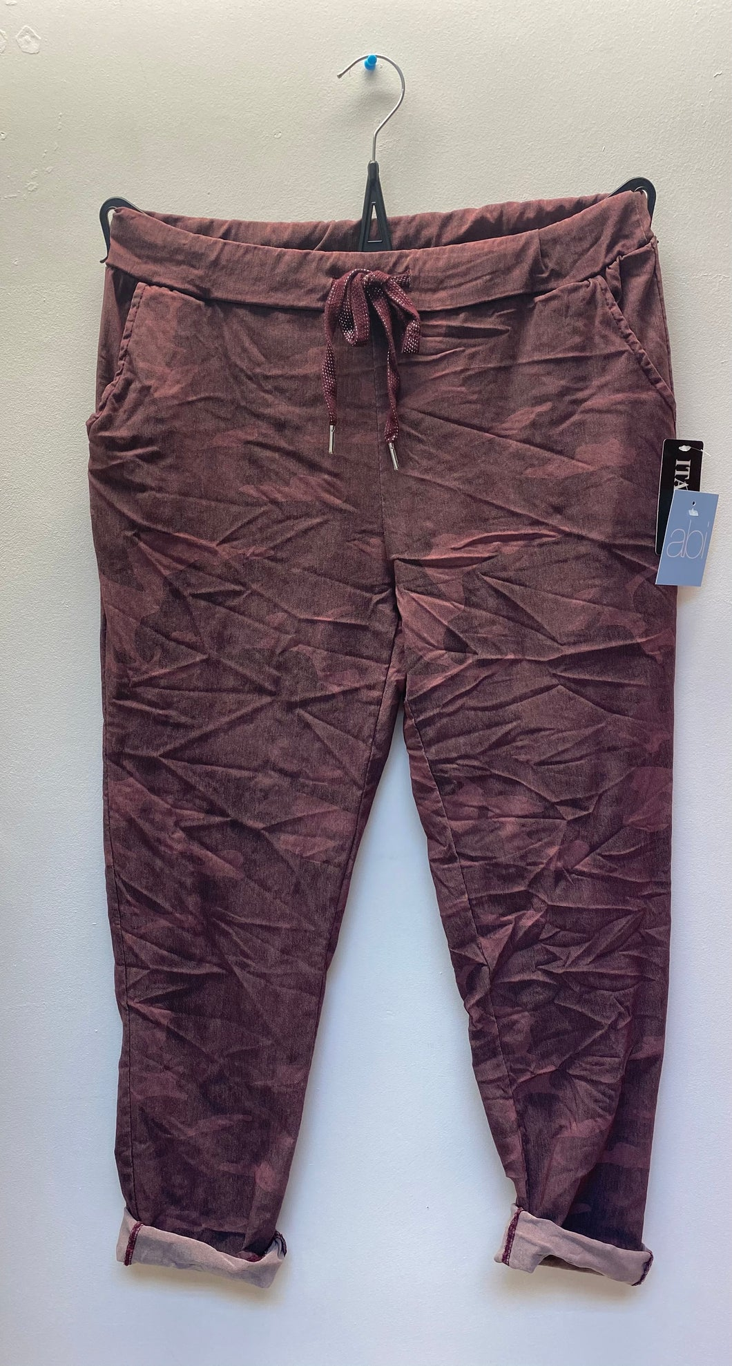 Plus Size Magic Stretch Camo Trousers