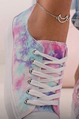 NEW Tie Dye Canvas Style Trainers