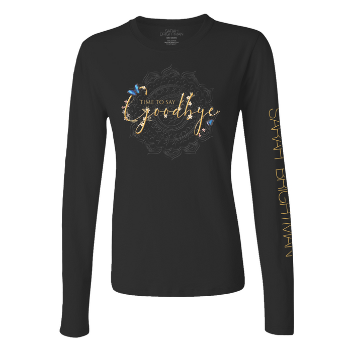 Time To Say Goodbye Womens Long Sleeve Tee - Sarah Brightman