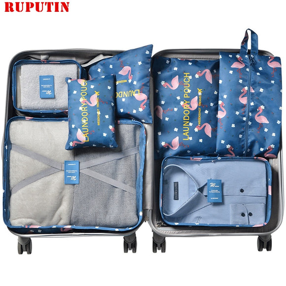 RUPUTIN 7Pcs/Set Travel Suitcase Organizer