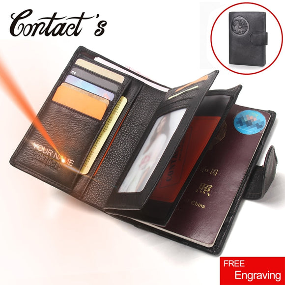 Genuine Leather Passport Wallet