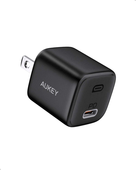 AUKEY PA-B1 Omnia Mini iPhone Fast Charger, 20W USB C Charger for iPhone 12/12 Mini/12 Pro Max, Power Delivery 3.0 Fast Charger, USB C Wall Charger PD Charger for iPhone 11 Pro Max,iPad 2020,Airpods pro