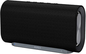 AUKEY SK-M30 Eclipse Wireless Speaker 20 W with 12 Hours Playtime, Enhanced Bass with Dual Passive Radiators/Subwoofers and Woven Fabric Surface for Echo Dot, Android Phones