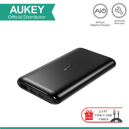 AUKEY PB-XN10 10000MAH USB-C POWER BANK WITH TYPE C CABLE