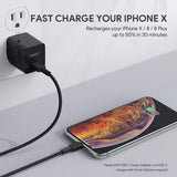 Aukey CB-CL1 MFI Braided Nylon USB C To Lightning Cable
