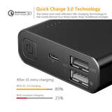 Aukey PB-AT20 Quickcharge 3.0 Qualcomm Powerbank Aluminum 20100mah Fast Charge