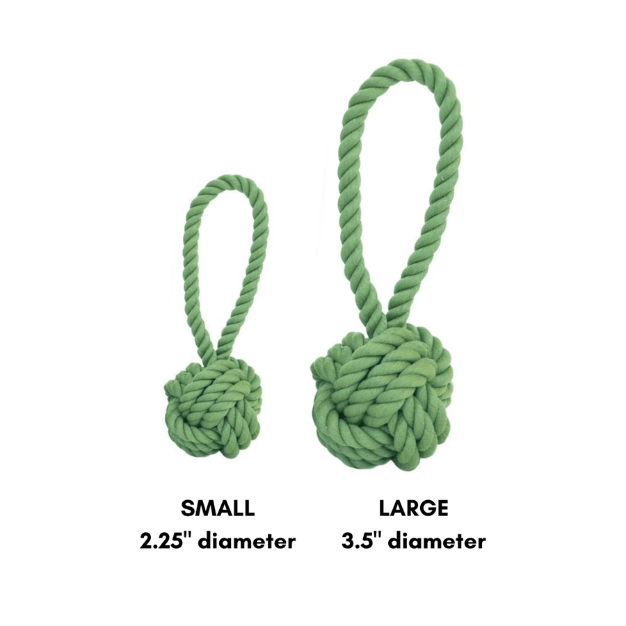 Tug and Toss Dog Rope Toy - Green