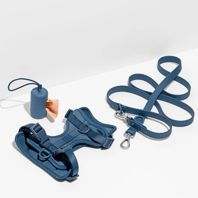 Dog Poop Bag Holder - Navy Leash Accessories Wild One