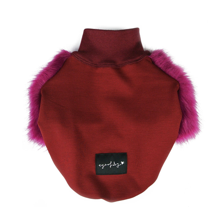 Sweet Plum Faux Fur Clothing Eye Of Dog