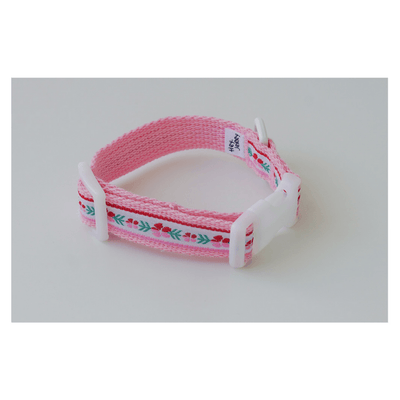 Vintage Pink Flower Collar + Leash Set