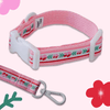 Vintage Pink Flower Collar + Leash Set collar Hey Jerry
