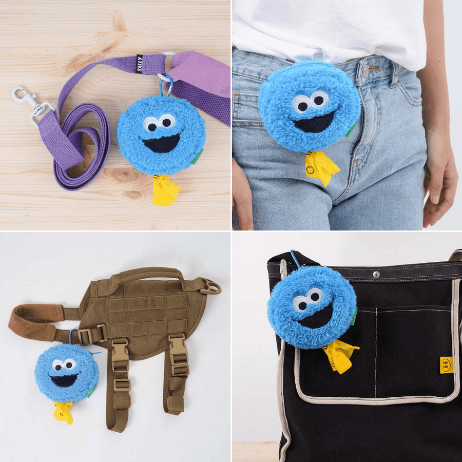 Cookie Monster Poop Bag Holder Leash Bag Leash Accessories BACONBOX