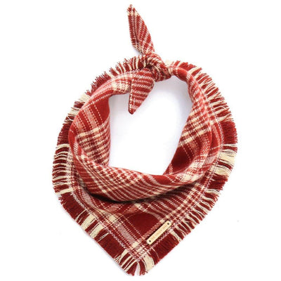 Burgundy Plaid Flannel Bandana