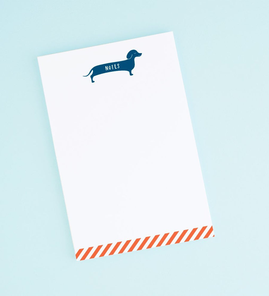 Dachshund Note Pad Stationery Graphic Anthology