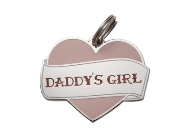 Daddy's Girl Enamel Charm / ID Tag (Free Custom Engraving) Charms Two Tails