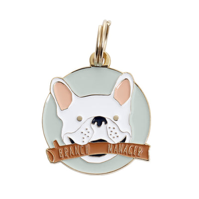 Frenchie Branch Manager ID Tag (Free Custom Engraving!)